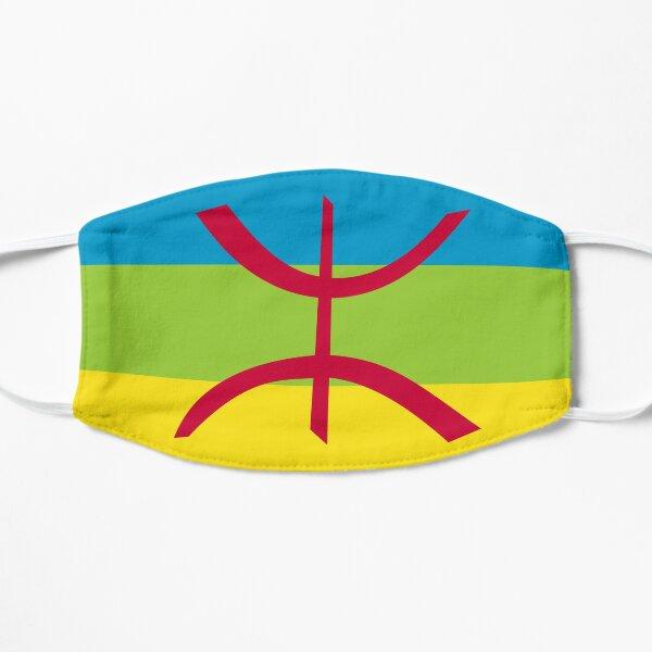 face mask design with berber flag Flat Mask