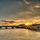 Sunset over blackfriars bridge London by mjamil81