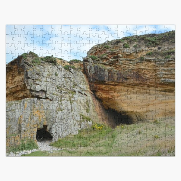 Caves at Clashach Cove, Moray Jigsaw Puzzle