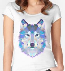 Wolf Animals Gift Women's Fitted Scoop T-Shirt