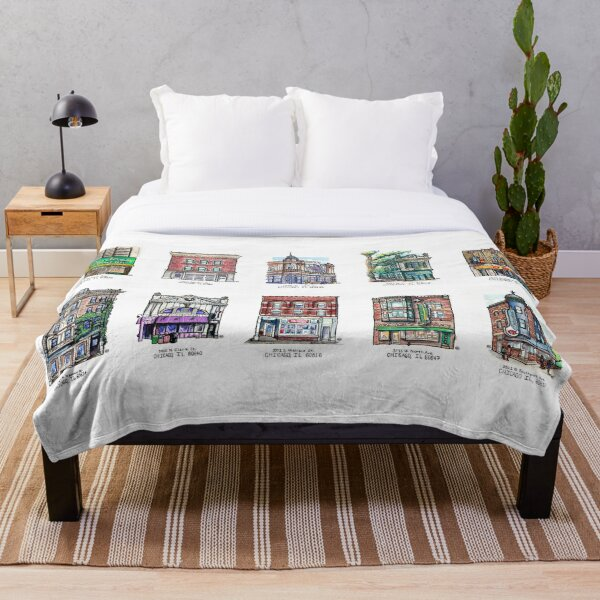 Chicago Small Buildings Series 1 Throw Blanket