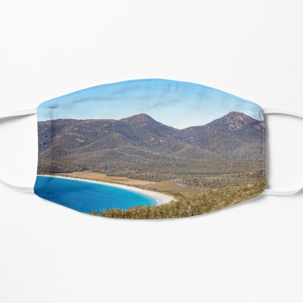 Wineglass Bay beach Tasmania Australia Flat Mask