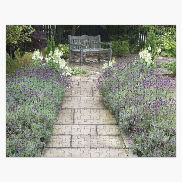 Lavender Path Jigsaw Puzzle