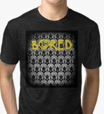 Sherlock - Bored (with wallpaper) Tri-blend T-Shirt