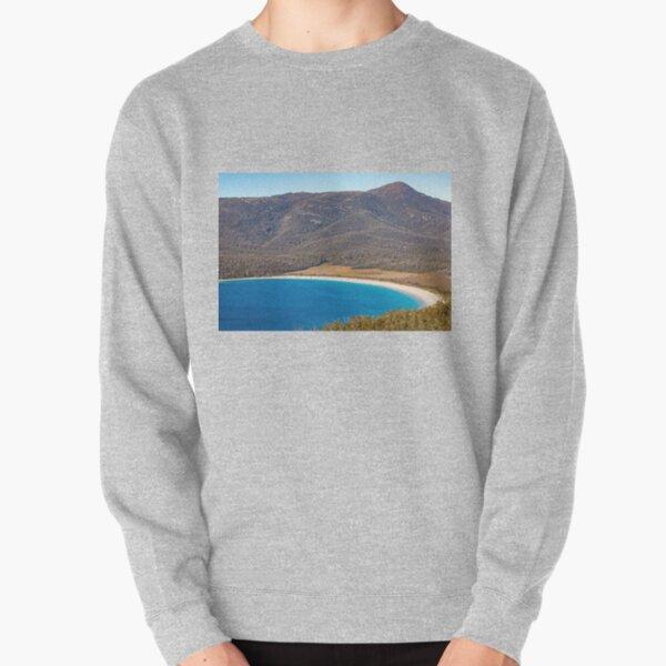 Wineglass Bay and beach Tasmania Pullover Sweatshirt