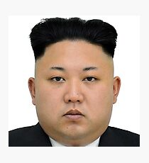 Kim Jong-un Face on something... :D Photographic Print