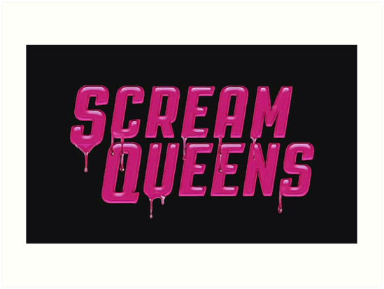 f1510f07 Impression artistique « Le logo de Scream Queens. », par marionheartlea |  Redbubble