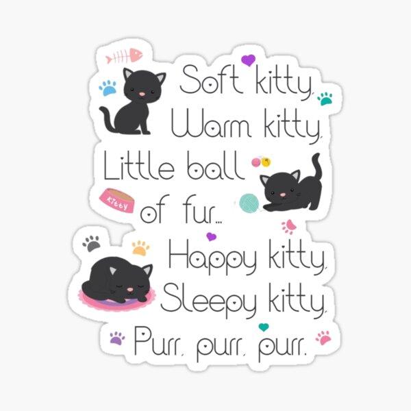 Soft Kitty Sheldon Cooper Sticker