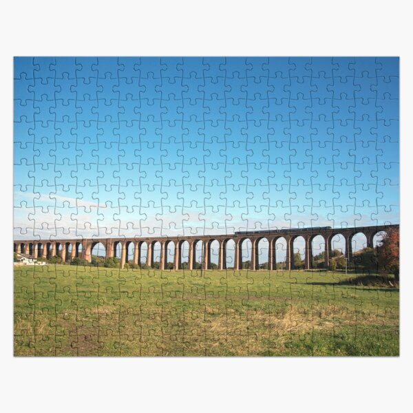 Culloden Viaduct with train Jigsaw Puzzle