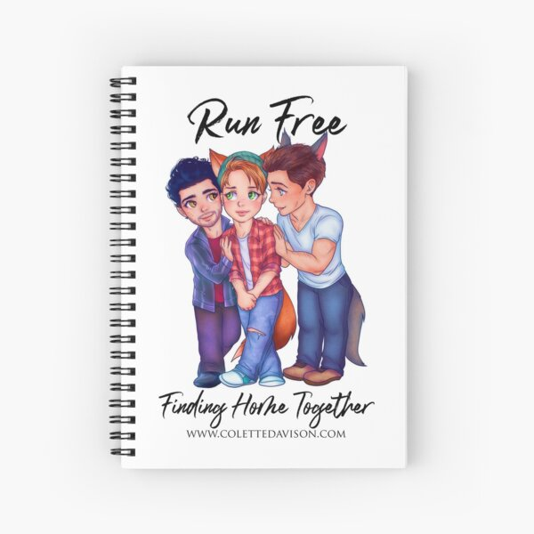 Run Free chibis Spiral Notebook