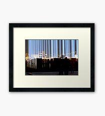 Spectra and the City - Hobart, Tasmania Framed Print