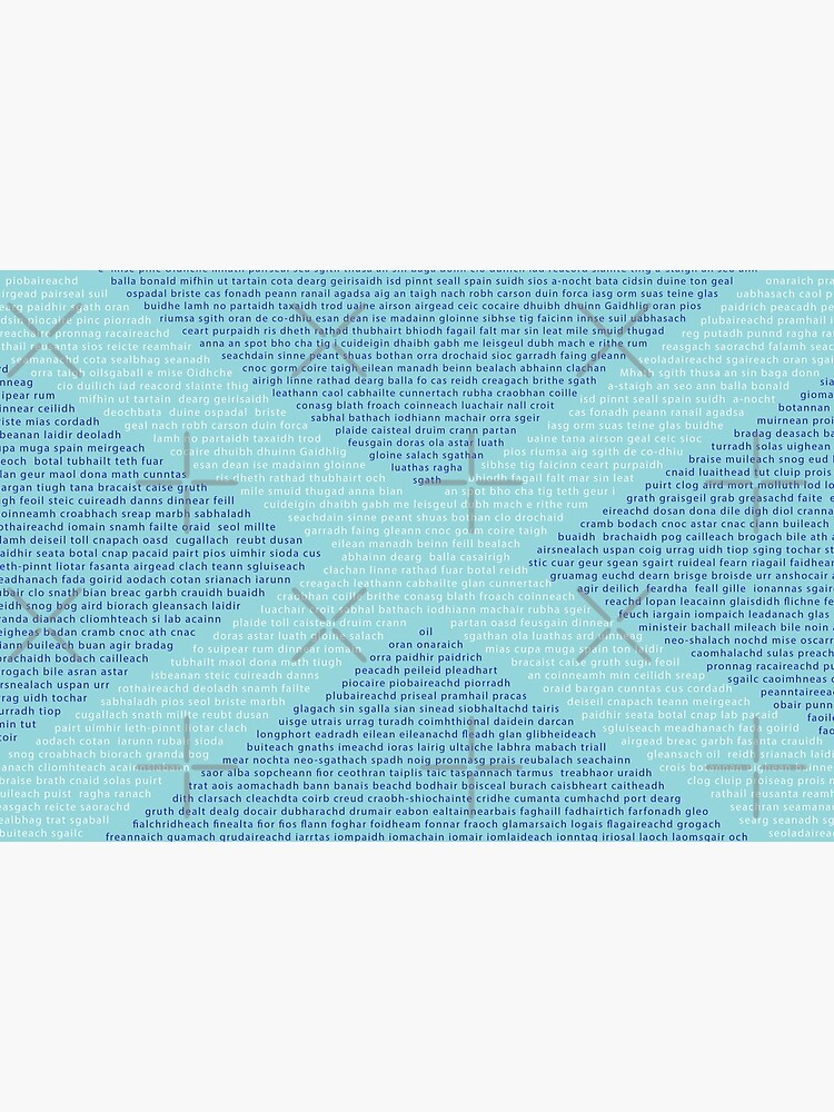Gaelic Words in a Saltire by SiobhanFraser