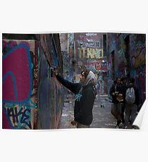 Graffiti Artist - Rutledge Lane Melbourne Poster