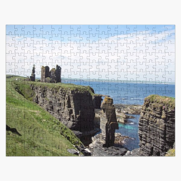 Seastacks and Ruined Castle Jigsaw Puzzle