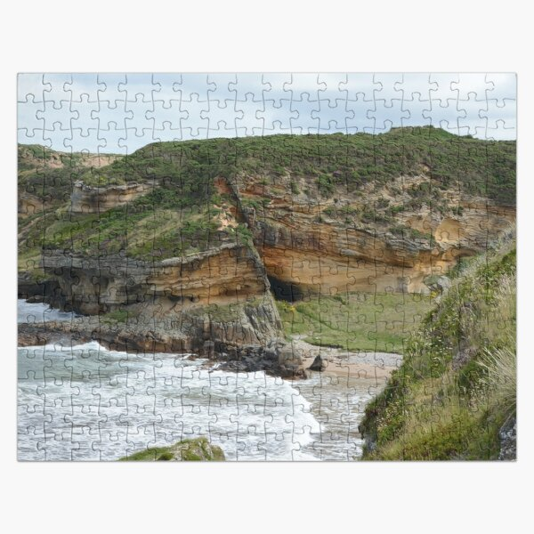 First Glimpse of Clashach Cove, Moray Jigsaw Puzzle