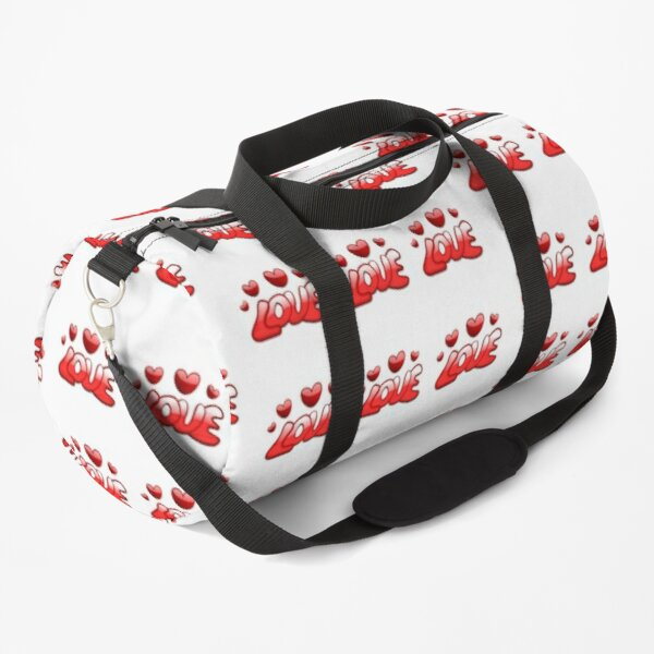 STICKERS, MUGS; LOVE HEARTS RED (stickers x 9 per sheet) Duffle Bag