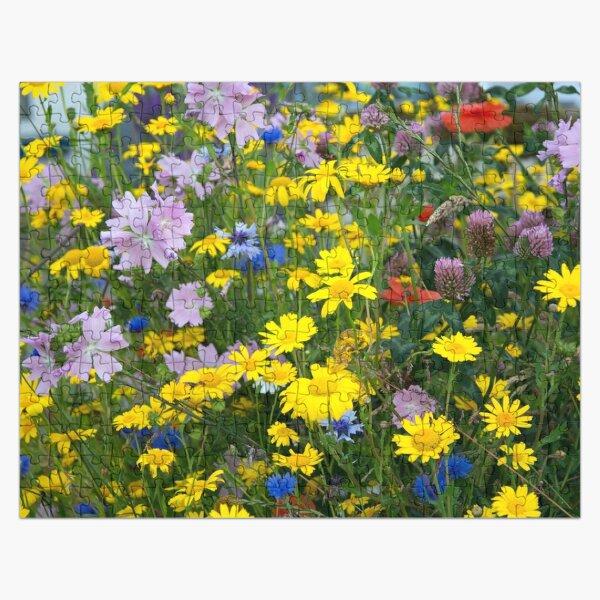 Closeup on Wildflowers Jigsaw Puzzle