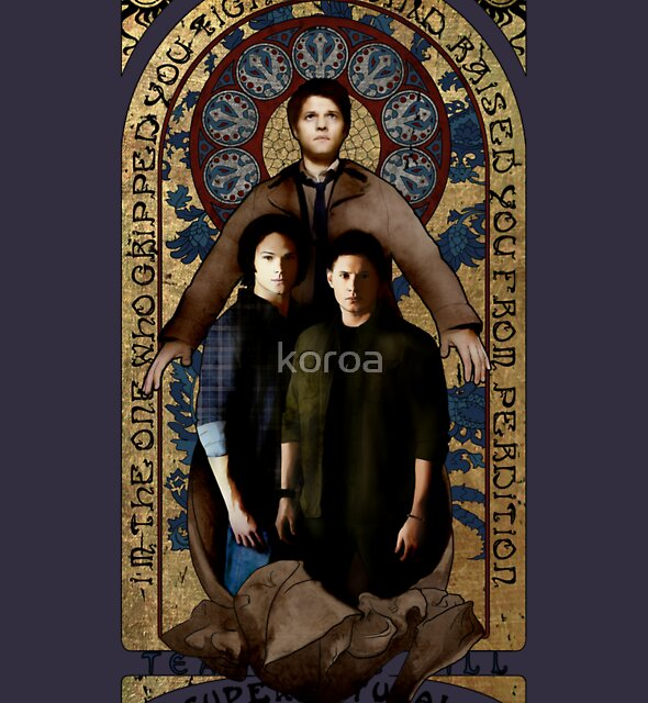 SUPERNATURAL gold medieval icon by koroa