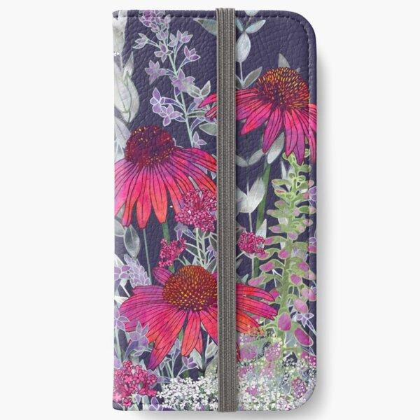 Pink Flower Garden - Echinacea Flowers, Foxgloves & Ammi iPhone Wallet