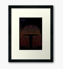 BobbaNeonFett Framed Print