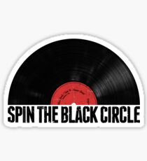 Spin The Black Circle Sticker
