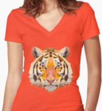 Tiger Animals Gift Women's Fitted V-Neck T-Shirt