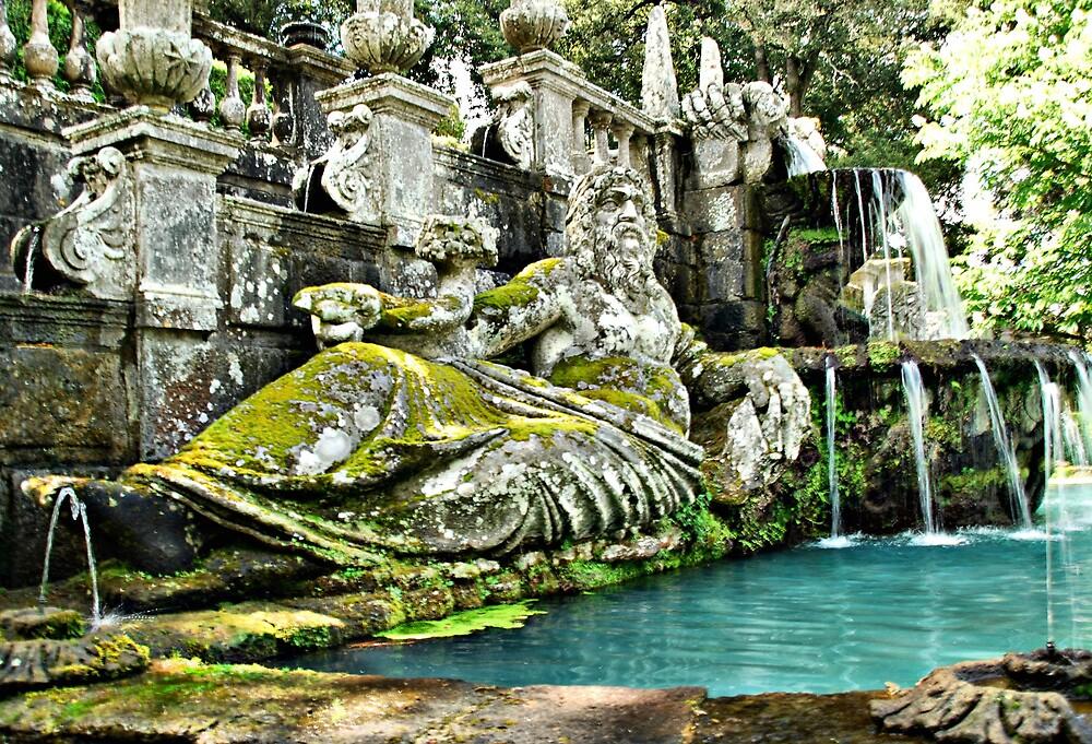 Fountain of Giants-Villa Lante, Italy by Deborah Downes