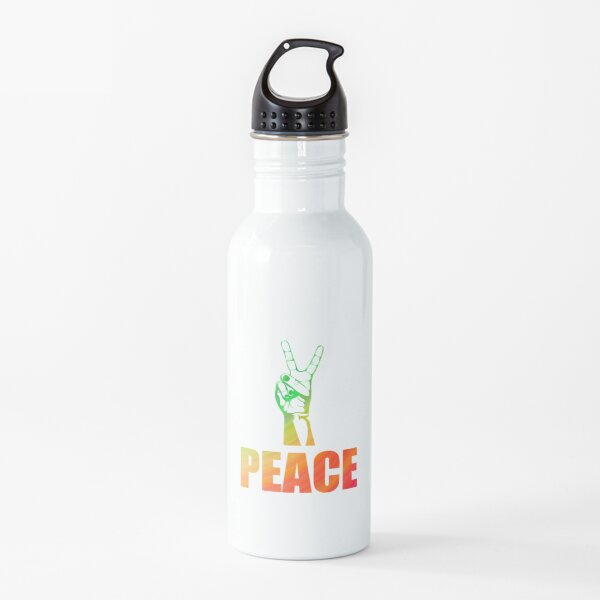 Rainbow Peace Water Bottle