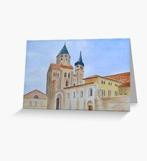 The Abbey, Cluny Greeting Card