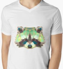 Raccoon Animals Gift Men's V-Neck T-Shirt