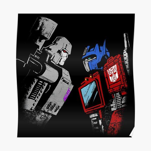 optimus prime megatron transformers full color Poster