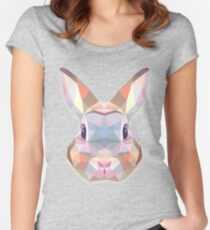 Rabbit Hare Animals Gift Women's Fitted Scoop T-Shirt