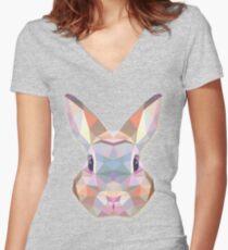 Rabbit Hare Animals Gift Women's Fitted V-Neck T-Shirt