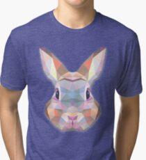 Rabbit Hare Animals Gift Tri-blend T-Shirt