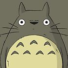 Simple Totoro iPhone Case by Lucsy3012