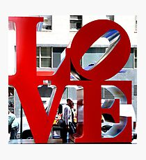LOVE Sculpture by Robert Indiana Photographic Print