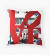 LOVE Sculpture by Robert Indiana Throw Pillow