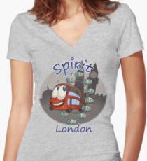 Spirit of London Women's Fitted V-Neck T-Shirt