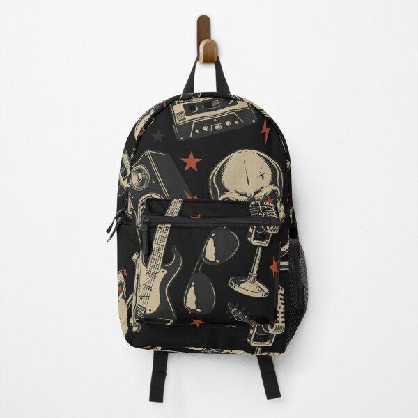 heavy metal vintage pattern Backpack