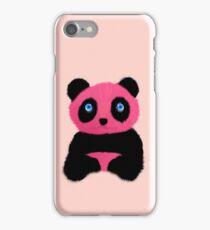 Pink blue-eyed panda iPhone Case/Skin