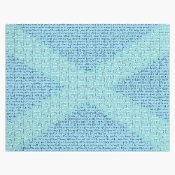 Gaelic Words in a Saltire Jigsaw Puzzle