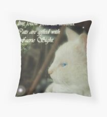 Catsight Throw Pillow