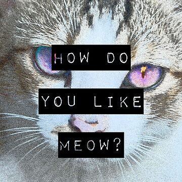 """""""HOW DO YOU LIKE MEOW"""" Case - Cat by objThom"""