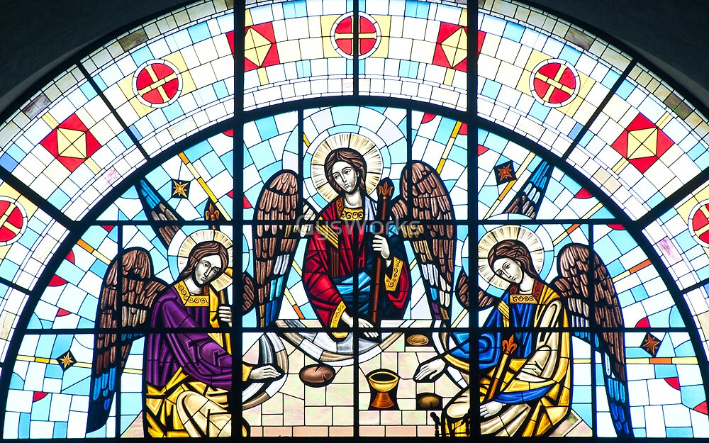 Jesus and Apostles Stained Glass Window by GysWorks
