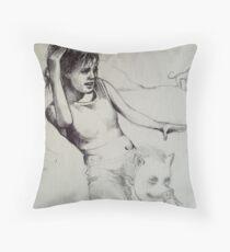 Piggy Back study sketch..  Throw Pillow