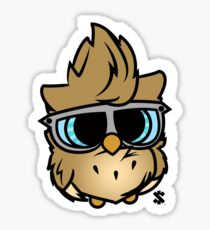 Colored Owl Sticker