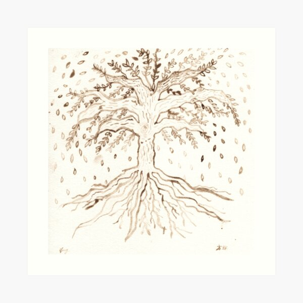 CA Bay Laurel Tree of Life Art Print