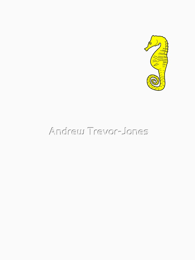 Seahorse T-shirt - Black and Yellow by andrewtj