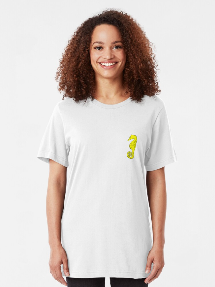 Alternate view of Seahorse T-shirt - Black and Yellow Slim Fit T-Shirt