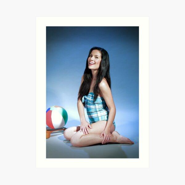 Miranda Carey - singer, musician, model Art Print